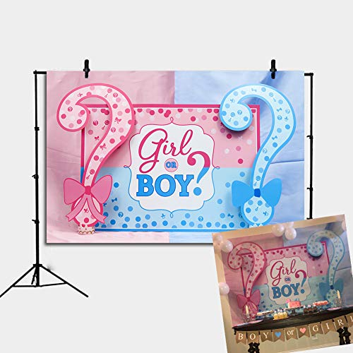 Daniu Baby Backdrop for Photography Boys or Girls Paty Background Gender Reveal Party Backdrop Baby Shower Decoration Photo Booth Supplies Studio Props Vinyl 7x5ft
