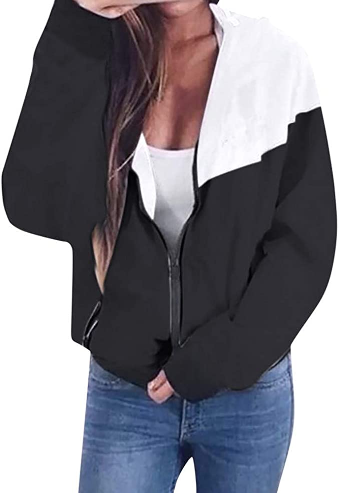 Frauen Lange Ärmel Sweatshirt Pullover Fitness Sport Mantel Jacke Winter