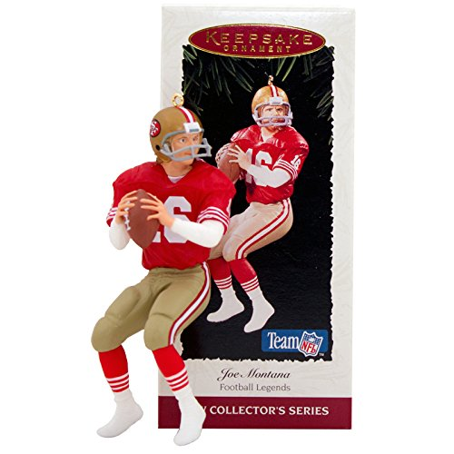 Hallmark Keepsake San Francisco 49er's Joe Montana 1995 Christmas Ornament (Montana Football)
