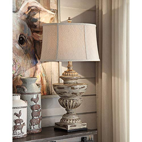 Crestview Collection Hudson Antique Cream Table Lamp from Crestview Collection