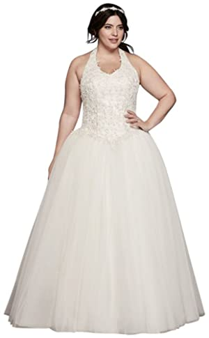 Tulle Basque Waist Plus Size Ball Gown Wedding Dress Wedding Dress Style...
