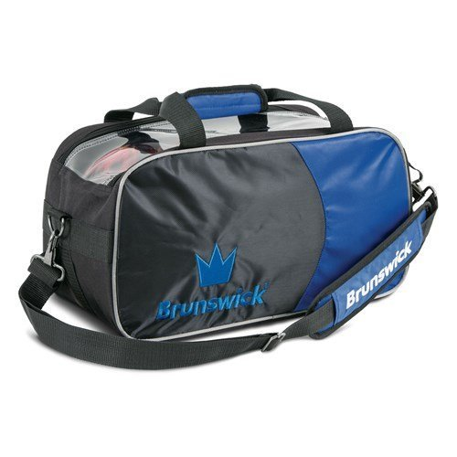 Brunswick Crown Double Tote With Shoe Pouch Bowling Bag  Royal