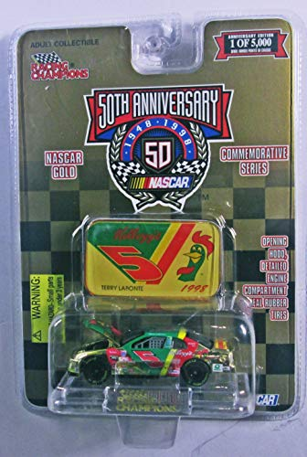 Kelloggs Terry - 1998 Racing Champions - NASCAR #5 Kellogg's Terry Labonte - 50 Year Anniversary -Limited Run 1 of 5000 Gold Chrome Commemorative Series 1:64 Scale