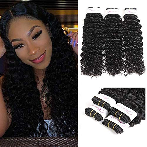 (Brazilian Hair Water Wave Bundles Virgin Human Hair 100% Unprocessed Hair Brazilian3 Bundles (24 26 28) Human Hair Extensions)