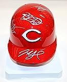 Cincinnati Reds 2015 Team Signed Autographed Mini Helmet Votto Cueto Phillips Chapman