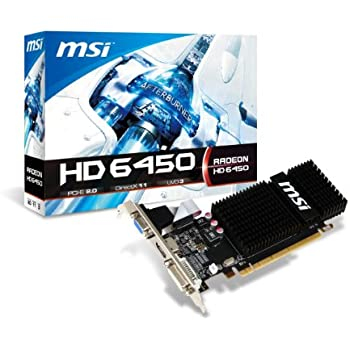 MSI AMD Radeon HD 6450 2GB DDR3 VGA/DVI/HDMI Low Profile PCI-Express Video Card R6450-2GD3H/LP