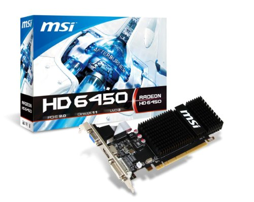 Price comparison product image MSI Radeon HD 6450,  2GB DDR3,  Low Profile,  PCI Express Graphics Card R6450-2GD3H / LP