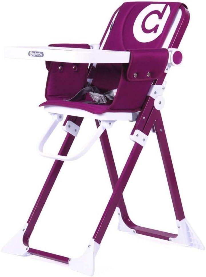 ベビーチェア ハイチェア 食事 高い椅子折り畳み式携帯ベビーチェア、子供の誕生日のおもちゃ、柔らかい椅子カバー (Color : Purple)