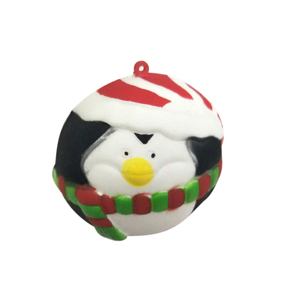 Livoty Squishies Toy Kawaii Christmas Balls Slow Rising Cream Scented Stress Relief Toys Christmas Gift (Black)