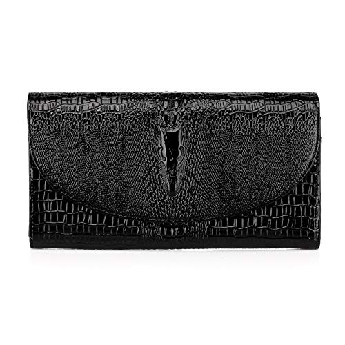 DHFUD Chain Crocodile Femme Pattern Main Sac PU Black à En Dinner Fashion rY7rn8x