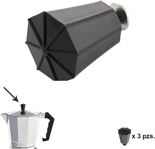 ORYX 5056140 Pomo Cafetera Aluminio Classic 2/3 / 6/9 y 12 tazas ...