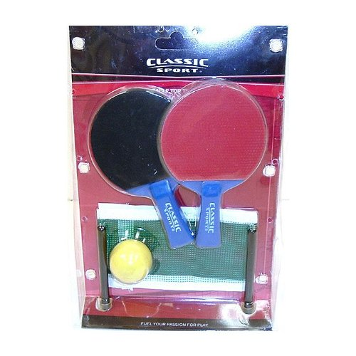 SPORTCRAFT TABLE TOP PING PONG GAME SET -RACKET IS 6''(H) X APPROX 3 3/4'' (W) by Sportcraft