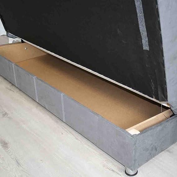 064e63eb6d9767 DYA SHOPPING Clic clac avec coffre de rangement en tissu nubuk gris Orion   Amazon.fr  Cuisine   Maison