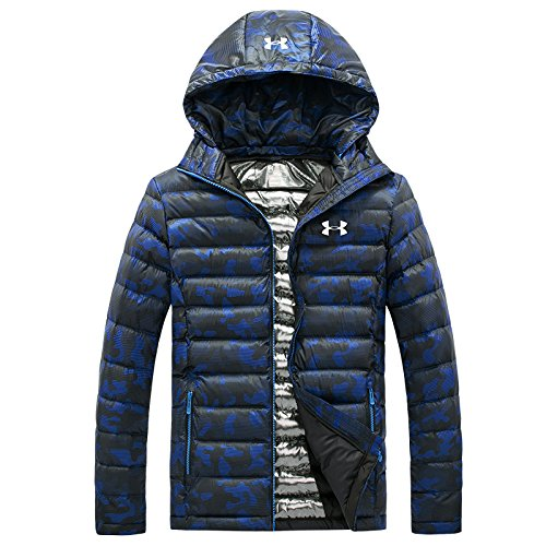 LUOTIANLANG outdoor Blue feather hooded Light down sports coat padded camouflage men warm fashion jacket winter wear rxfpqPr