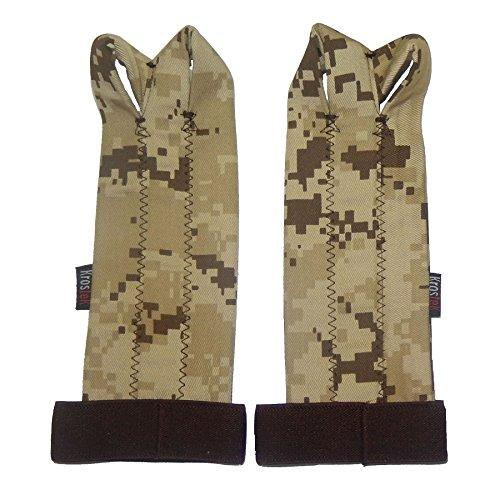 Paire de professionnels Hand Strips 5.0pour Crossfit Camouflage Marron (m)