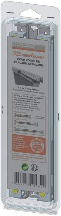 Spaceo Kit Amortisseur Pour Porte De Placard Lot De 2 Amazon Fr Cuisine Maison