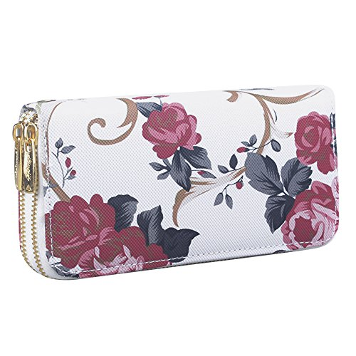 Bag Rose A Coin Bag Oldeagle Purse Vintage Road Women Long Phone Stone Pattern Wallet Fashion xxzwRFSZq