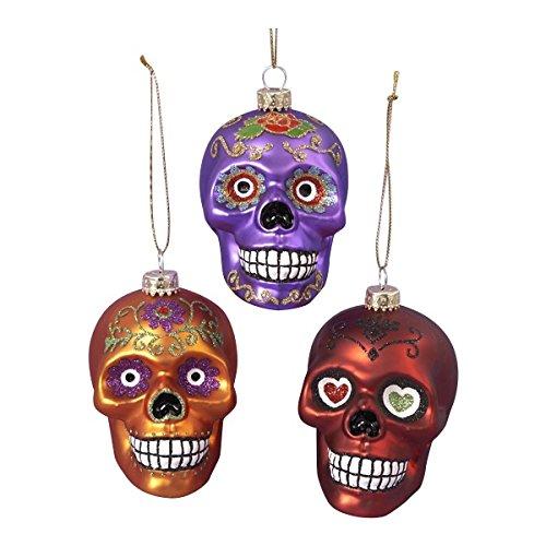 - Amazon.com: Glass Skull Ornament Set OF 3: Home & Kitchen