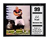Encore Select 521-77 NFL Houston Texans J.J. Watt Stat Plaque with Photo, 12-Inch by 15-Inch