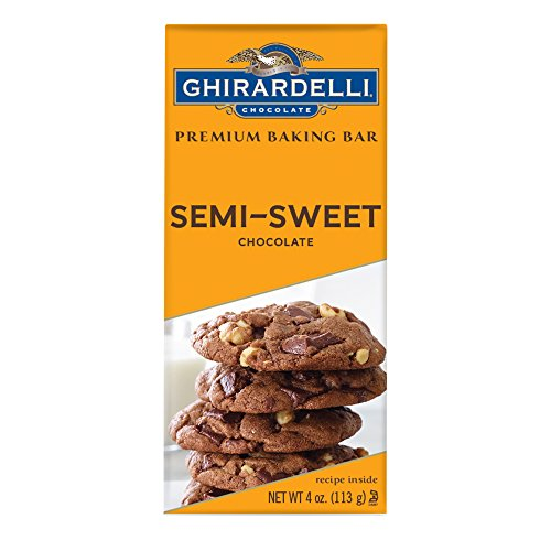 Ghirardelli Premium Baking Bar, Semi Sweet Chocolate, 4 Ounce (Pack of 12) (Chocolate Sweet Bar Semi)