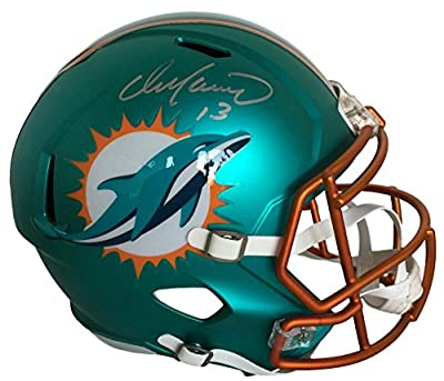 Dan Marino Autographed Signed Miami Dolphins Full Size Rare BLAZE SPEED Helmet Tristar Authentic Hologram & COA Card