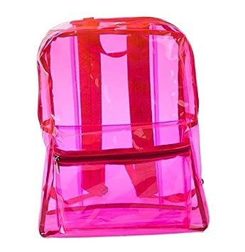04ea7b3b5 Huihuger Práctico Transparente Impermeable Playa Bolsa Transparente Mochila  Hombro Bolsa Escuela Viaje (Rojo Rosa): Amazon.es: Deportes y aire libre