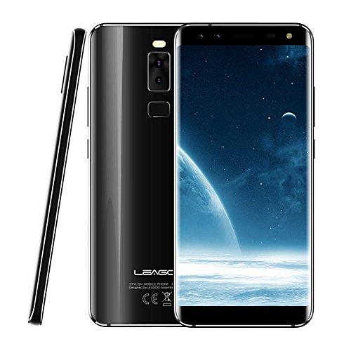 Glass Lens Quad (LEAGOO S8 5.72 Inch 3GB RAM 32GB Smart Phone, Dual Curved Edge HD Mobile Phone (Black))