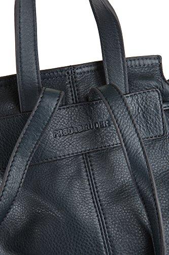FREDsBRUDER - Bolso mochila  de Piel para mujer azul marino