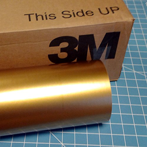 24'' x 100 Ft Roll of Gold 3M Scotchcal Series 50 Vinyl for Craft Cutters and Vinyl Sign Cutters