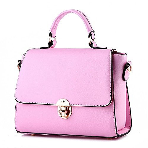 Desklets Womens PU Leather Vintage Stachel Buckle Tote Bags Top Handle - Duty Sydney Free
