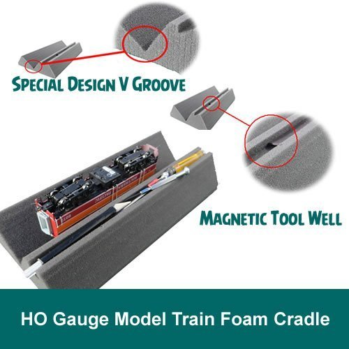 Cradle Foam (HO Gauge Model Train Foam Locomotive & Car Cradle)
