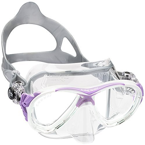 Cressi Eyes Evolution Scuba Diving Snorkeling Mask (Made in Italy), Clear/Lilac by Cressi by Cressi