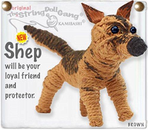 Kamibashi Shep German Shepherd Dog Original String Doll Gang Keychain (String Doll Gang)