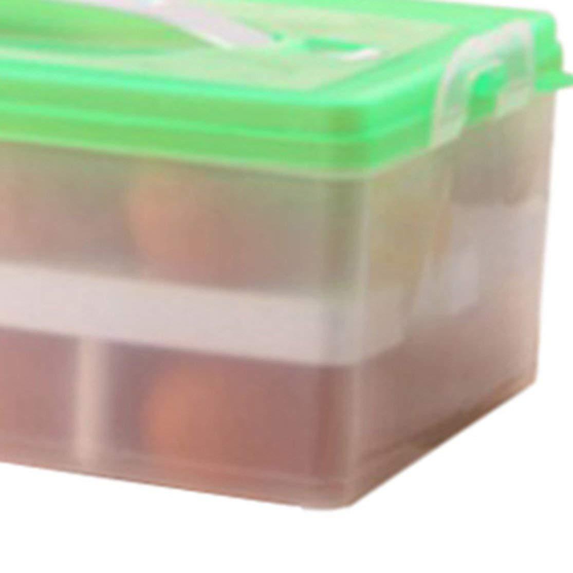 LouiseEvel215 Gro/ßer tragbarer doppelschichtiger Eierkarton-K/ühlschrank Frischhaltekoffer K/ühlschrank-Frischhaltekoffer Safe PP