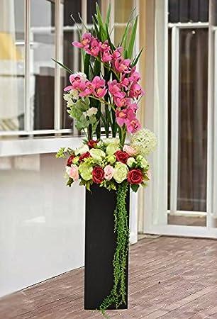 Zhudj Flores Artificiales Flores Artificiales Guarnecido Trasero