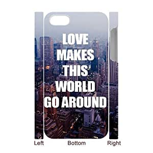 Custom Cover Case with Hard Shell Protection for Iphone 4,4S 3D case with Love words lxa#871938