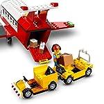 LEGO-City-Airport-Aeroporto-Centrale-con-Aereo-Giocattolo-Camion-del-Carburante-e-Minifigura-del-Pilota-60261