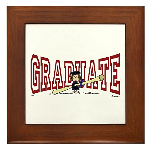 CafePress Graduate Framed Tile, Decorative Tile Wall Hanging