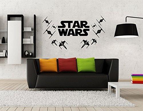 Ik2193 Wall Decal Sticker Spaceships Logo Star Wars Children's Room ()