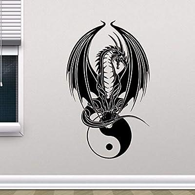 zqyjhkou Dragon Yin Yang Tatuajes de Pared Dormitorio Arte de la ...