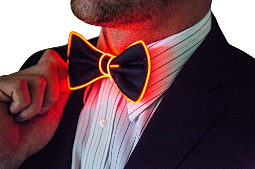Light Up Bow Tie, Red by Neon Nightlife | Men