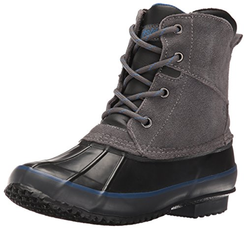 Northside Lewiston Boy's Waterproof Lace-up Duck Boot (Little Kid/Big Kid),Charcoal,4 M US Big (Frosty Snow Boot)