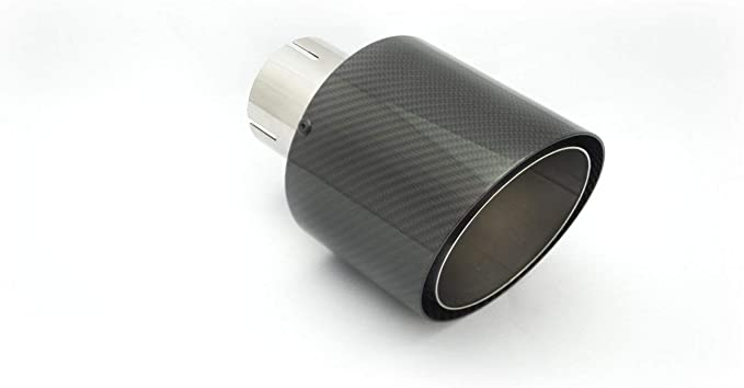 Cartuner Carbon Auspuffblende Endrohr 100mm 65mm Anschluss Exclusiv Auto