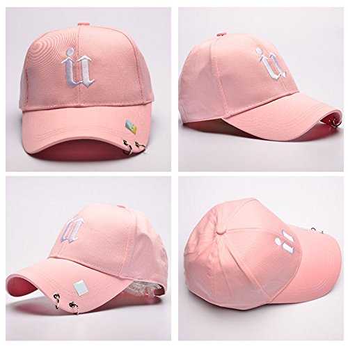 Mujer Hop Sombreros de de Gorras Pink Snapback wlgreatsp Metal Hip Anillos Estilo Vin Coreano Béisbol beauty con wUq4xOOZI