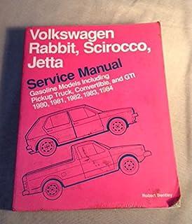 volkswagen rabbit scirocco jetta service manual 1980 1984 rh amazon com