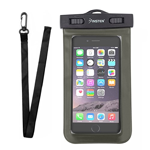 Insten Outdoor Waterproof Dry Bag PVC Carrying Case Pouch W/ Lanyard For Huawei Google Nexus 6P, LG Google Nexus 5X, Apple iPhone X/8/8 Plus/7/7 Plus/6S/6S Plus; Galaxy S7 Edge/S7; LG HTC Nokia, Black (Apple Black Pda Case)