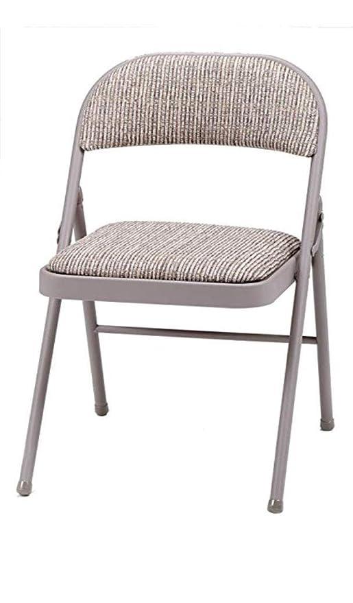 MECO Deluxe silla plegable de acero acolchado, color marrón, 94 x 47 x 7 cm