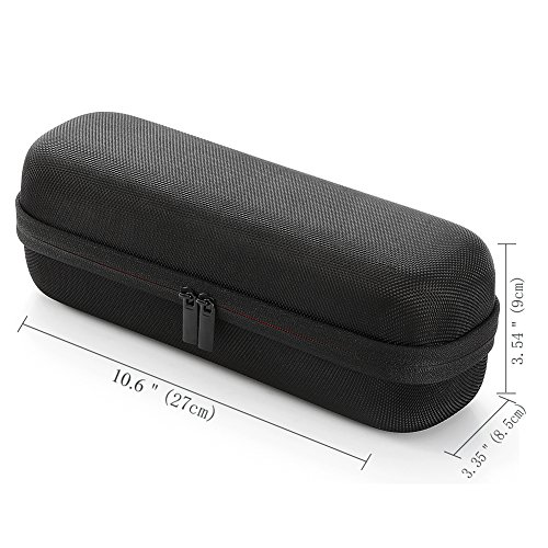 Hard Travel Case for Apple Dr. Dre Beats Pill+ Pill Plus Bluetooth Portable Wireless Speaker, Carrying Storage Bag. Fits USB Cable and Wall Charger - Black(Black Lining)