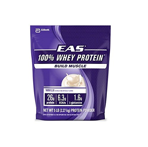 Myoplex Whey Protein - EAS 100% Whey Protein Vanilla - 5lb - CASE PACK OF 2