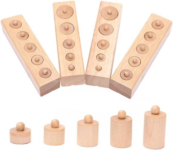 NUOVO Materiale gioco Educativo didattico parallelepipedi larghezze Montessori